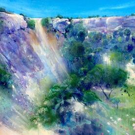 Chalk Cliff, Lewes 120 x 100cm