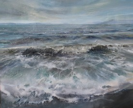 'Towards Great Cumbrae' Acrylic on Canvas 120x100cm