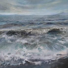'Towards Great Cumbrae' Acrylic on Canvas 120x100cm