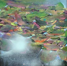 Waterlilies II 50x50cm
