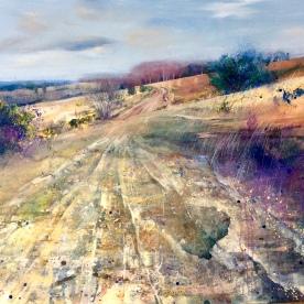 Forest Path 120x100cm acrylic on canvas