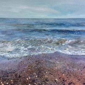 Receding Wave 120x100cm acrylic on canvas